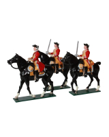 0657 Toy Soldiers Set 6th Inniskilling Dragoons British Cavalry Painted
