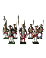 0660 Toy Soldiers Set The Garde Francaise Painted