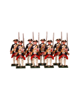 0661 Toy Soldiers Set The Garde Francaise Painted