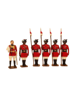0047 Toy Soldiers Set 4th Regiment of Bengal Lancers 1900 Painted