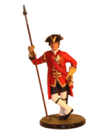 Sqn80 008 Officer 23rd Foot Royal Welsh Fusiliers circa 1740 Painted