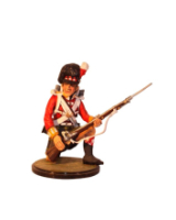 Sqn80 026 Private Kneeling to receive Cavalry 92nd Regiment 1815 Kit