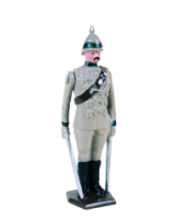 033 1 Toy Soldier Officer at attention 29th Punjab Infantry Kit