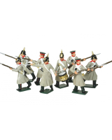 0102 Russian Infantry Toy Soldiers Set Painted
