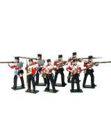 0103 British Infantry Toy Soldiers Set Painted