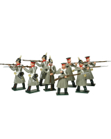 0104 Russian Infantry Toy Soldiers Set Painted