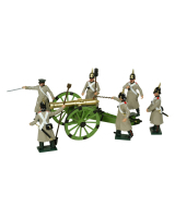 0116 Russian Artillery Toy Soldiers Set Painted