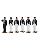 1300 Toy Soldiers Set Boatswain with five Crew members 1805 Painted