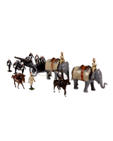0059 Toy Soldiers Set Royal Artillery Elephant Battery India 1890 Painted