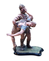 JW90 061-062 Frankish Warrior and Captive Painted