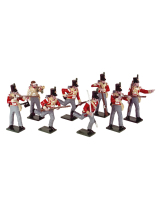 0743 Toy Soldiers Set British Light Infantry 1812 Painted