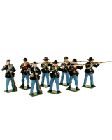 0904 Toy Soldiers Set Union Infantry Firing and Loading Painted