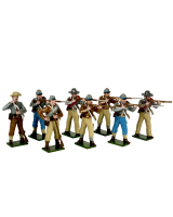 0906 Toy Soldiers Set Confederate Infantry Firing and Loading Painted
