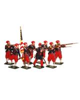 0911 Toy Soldiers Set 5th New York Zouaves with Colour-Bearer and Firing Painted