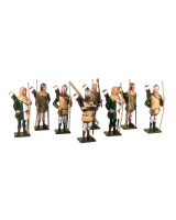 MS2 Toy Soldiers Set English Archers The Battle of Agincourt Painted