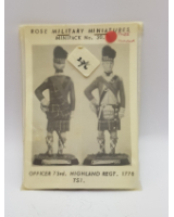 Rose Miniatures No. 030 - Officer 73rd. Highland Regt. 1778 - Kit