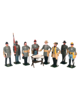 0041 Toy Soldiers Set Robert E. Lee and his Generals Painted