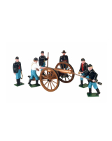 0078 Toy Soldiers Set Union Artillery with a 12 Pounder Gun Painted