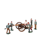 0079 Toy Soldiers Set Confederate Artillery with a 12 Pounder Gun Painted