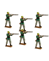 0837 Toy Soldier Set Belgian Infantry Standing Firing - 1st Carabinier Regiment Painted