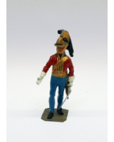 P042 British Dragoon Officer 1815 - Painted