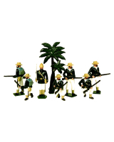 0042 Toy Soldiers Set Royal Navy Landing Party Egypt 1882 Painted