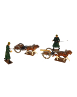 0838 Toy Soldier Set Belgian - Dogcart with a Machine Gun and Limber with two followers 1st Carabinier Regiment Painted