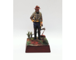 ToL 466 - American Civil War Confederate Army 90mm Foot Painted in Matt with Wooden base