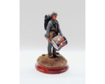 ToL 467 - American Civil War Confederate Army Drummer 90mm Foot Painted in Matt with Wooden base