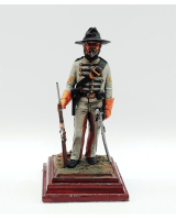 ToL 470 - American Civil War Confederate Army 90mm Foot Painted in Matt with Wooden base