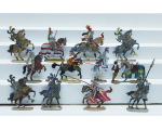 ToL 424 - 12 x Knights with Horses 30mm Flat Painted