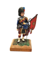 No.012 - Pipe Major 2nd Battalion  Scots Guards 1937 Painted in Matt on wooden base