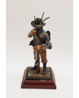 A/06 - Louis P. Mari Sergeant, Confederate Army 1861 - 65 - 90mm Foot Painted in Matt with Wooden base