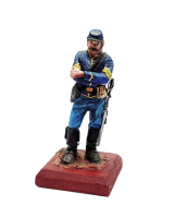 REAL MODELS RM 2 - US Cavalry Sergeant 1865 Painted with Wooden base
