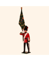 0027 2 Toy Soldier Officer with Regimental Colour Kit