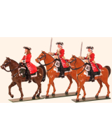 0302 Toy Soldiers Set Marlborough Officer and Troopers Painted