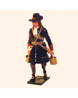 0304-6 Toy Soldier Gunner with Water buckets of the Marlborough Artillery Kit