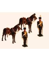 0036a Toy Soldiers Set Two Troopers at attention with their Horses Painted