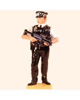 568 Toy Soldier Set Police Officer Armed Painted