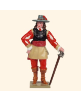 0067-2 Toy Soldier Set Cavalry Officer of the Royalist Foot Kit