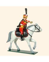 0754C Toy Soldiers Set Trumpeter French Hussars Painted