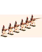 0773 Toy Soldiers Set French Grenadiers of the Guard  Kneeling Firing Painted