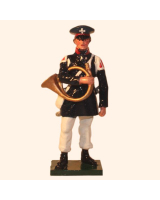 0777 2 Toy Soldier Hornist Prussian Infantry Napoleonic War Kit