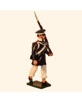 0777 4 Toy Soldier Privat Marching Prussian Infantry Napoleonic War Kit
