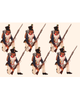 0772 Toy Soldiers Set French Line Fusilier kneeling Painted