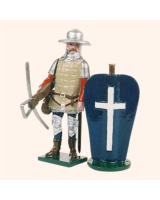 MS1-3 Toy Soldier Set French of Crossbowmen The Battle of Agincourt Kit