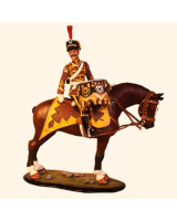 M80 03 Kettledrummer 4th Hussar Regiment, Von Schill Painted