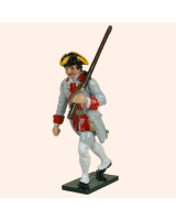 0624 4 Toy Soldier Private with rifle on back Infantry Guyenne Regiment Kit