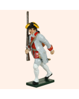 0624 5 Toy Soldier Private with rifle close to body Infantry Guyenne Regiment Kit