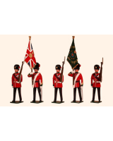 0027 Toy Soldiers Set Colours and Escort, The Royal Northumberland Fusiliers 1900 Painted